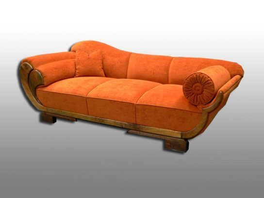 Alte Couch in neuem Gewand. Möbelstoff Kirkby House - Crushed.