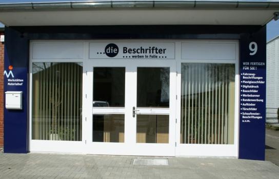 Die Werkstatt der Beschrifter in der Kollunderstraße 9