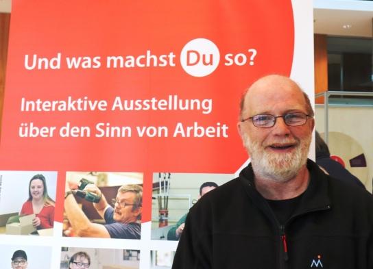 Mit dabei: Willi Papendick, Werkstattrat der Werkstätten Materialhof