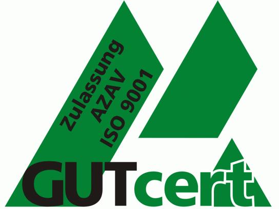 Siegel der Qualitätsmanagementzertifizierung nach ISO 9001 sowie die Zulassung nach AZAV
