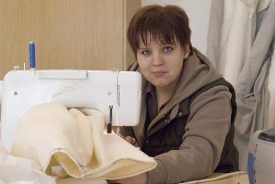 Arbeit und Qualifizierung in der Nähwerkstatt