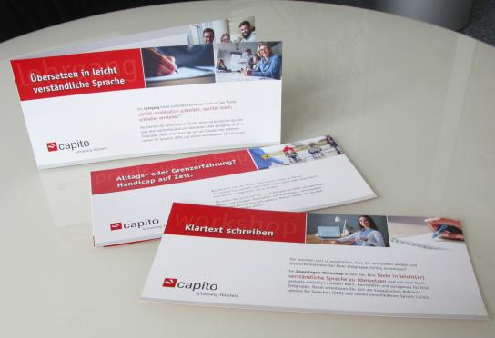 Dies sind die neuen Flyer für die Workshops und L