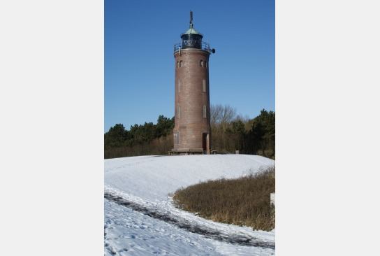 Böhler Leuchtturm im Schnee