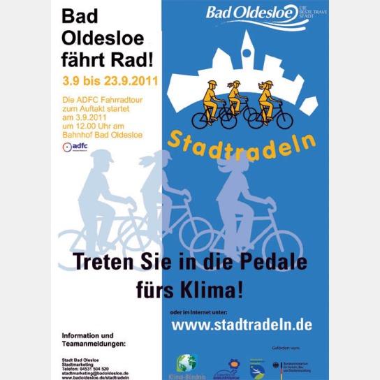 Poster Bad Oldesloe fährt Rad! Treten Sie in die Pedale fürs Klima.