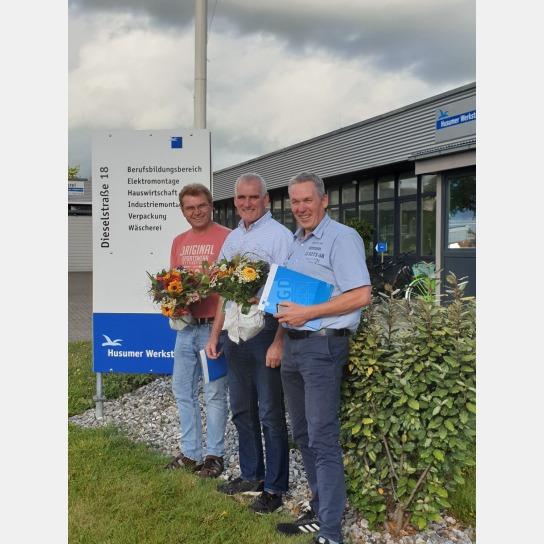 v.l.n.r.: Dirk Davids, Okke Peters, Jürgen Clauss