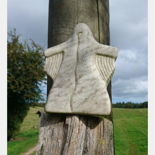 ca. 30cm große Engelsfigur aus Stein