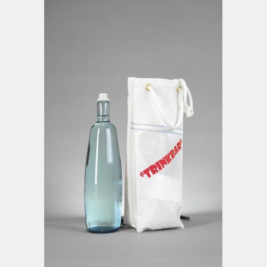 Tüte aus Segelstoff, zum Beispiel für Flaschen