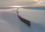 Bild: Der Strand ist von Schnee bedeckt