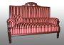 Antikes Sofa mit klassischem Biedermaierstreifen. Aufgearbeitet 2006.