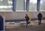 Die Jugendwartin rennt durch den Parcour. Bei so einer Prüfung ist sie natürlich auch am Start.