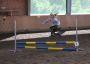 Eine Läuferin beim springen