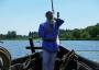 Skipper Max Wölk am Ruder der Sigyn