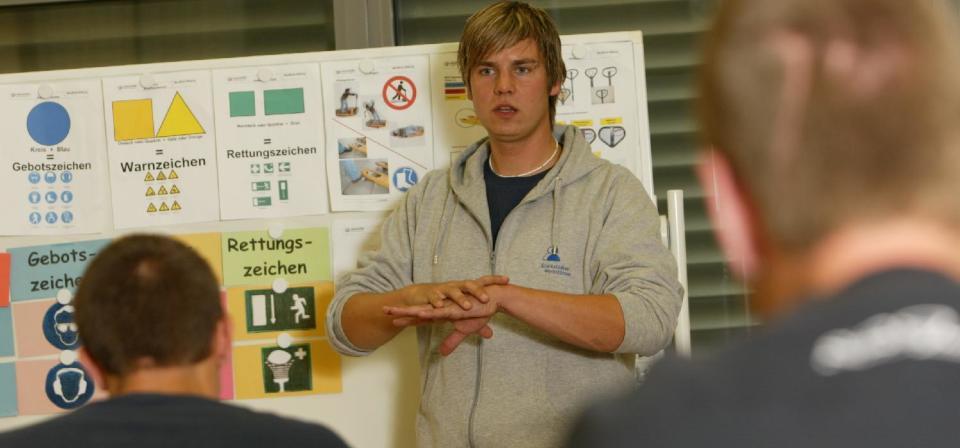 Vortrag im Berufsbildungsbereich der Werkstatt