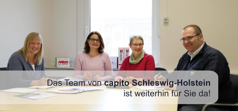 Bild: Das Team von capito Schleswig-Holstein läch